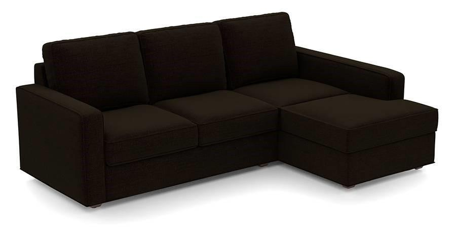 Austin 4 Seater Sectional Sofa - Dark Brown