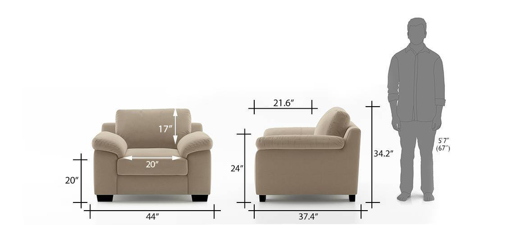 Embrace 1 Seater Sofa - Off White
