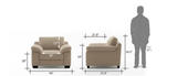 Embrace 1 Seater Sofa - Sandy Brown