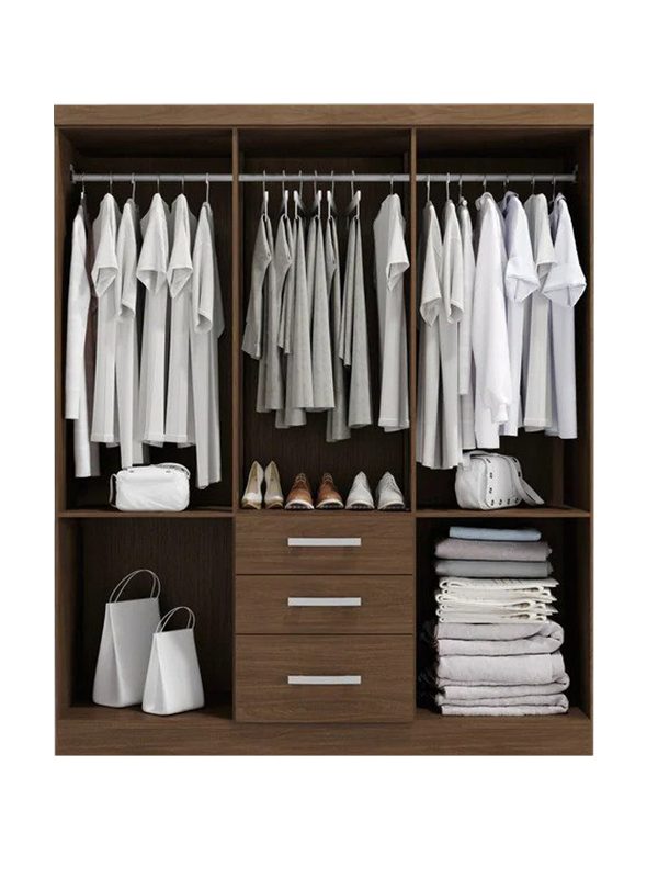 Cherone 6 Door Wardrobe with 3 Drawers