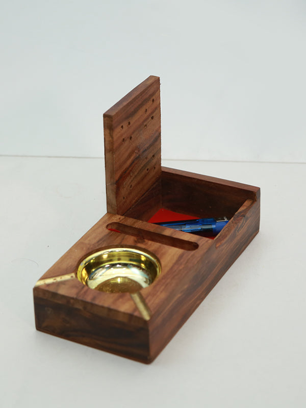 Wooden Cigarette Ashtray