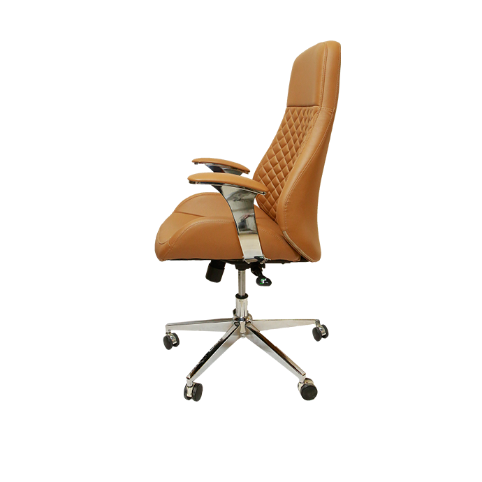 Renda Executive Chair-Saddle brown