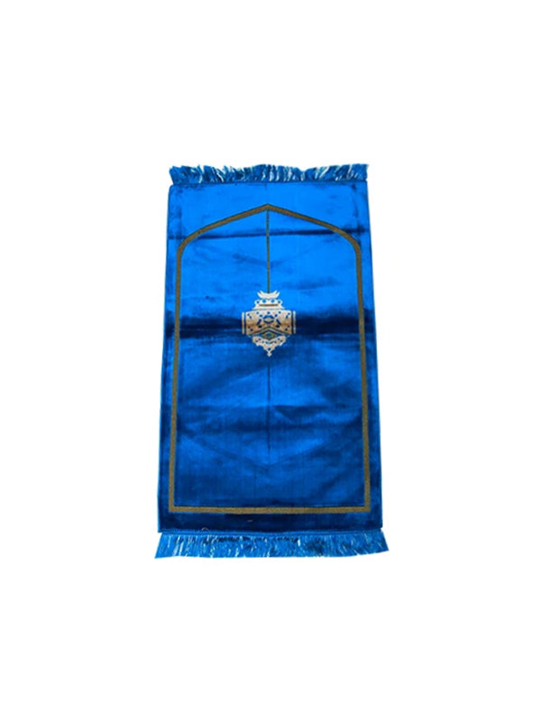 Minimalist Lantern Prayer Mat - Blue
