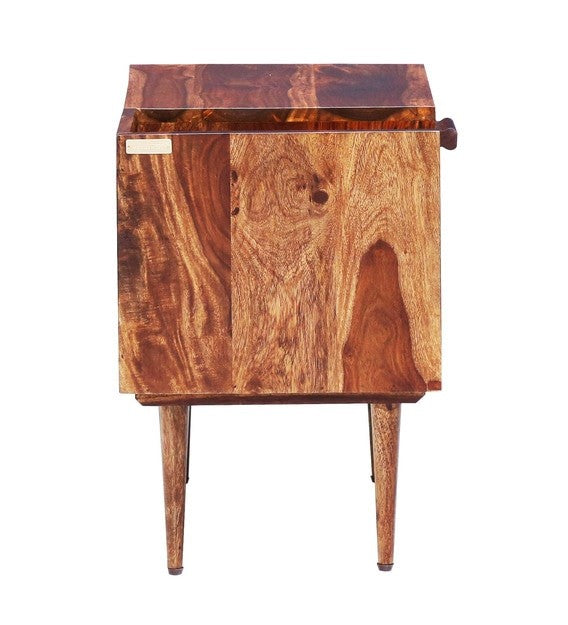 Trough Bed Side Table - Mohagony Brown