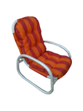 Thanlyin Cushioned Chair - Orange and Pink