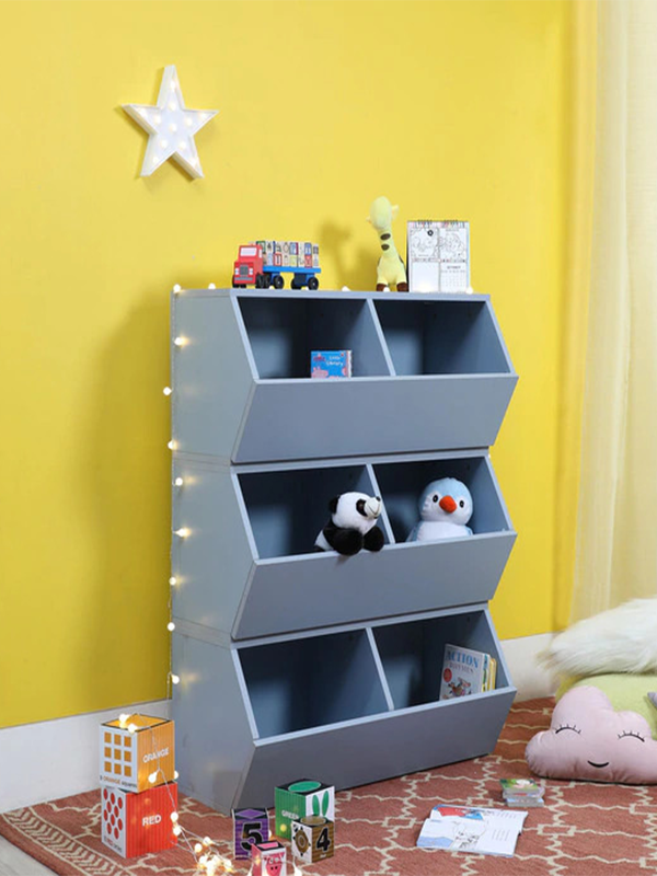 Sling Kids 3 Tier Book Rack in Elegant Blue Colour
