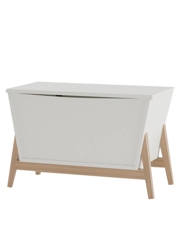 Beedle Storage Trunk Cabinet in Frosty White