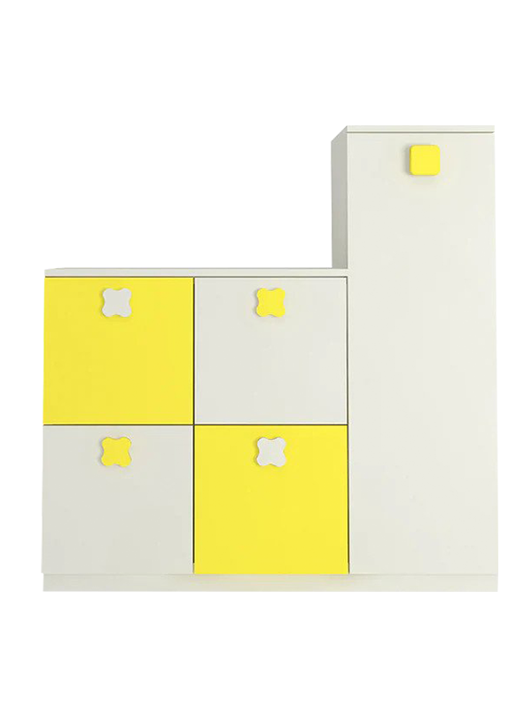 Anthory Storage Cabinet in Yellow - Urban Galleria