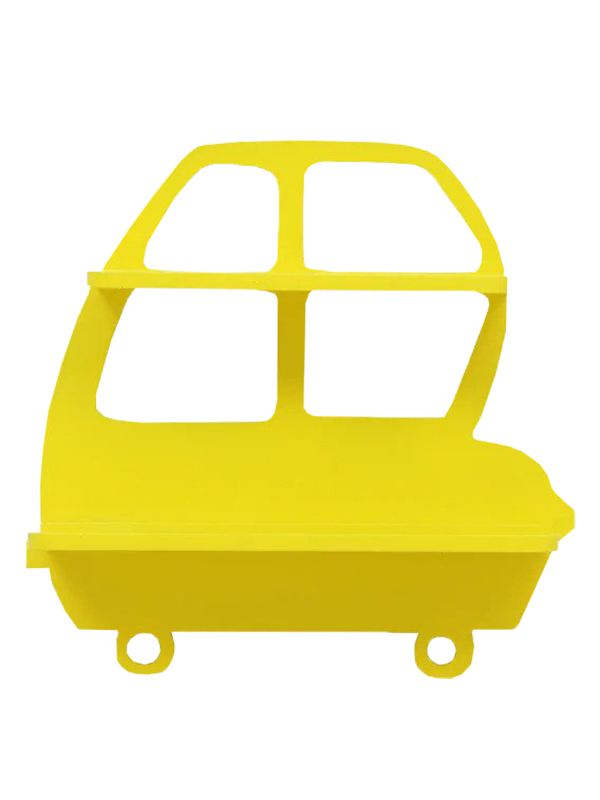 Artoria Kids wall shelf in Yellow