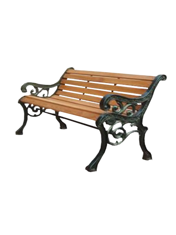 Victoria Sitting Bench - Brown and Black