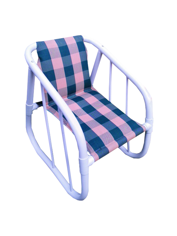Silkrik Checked Style Outdoor Chair - Blue and Pink