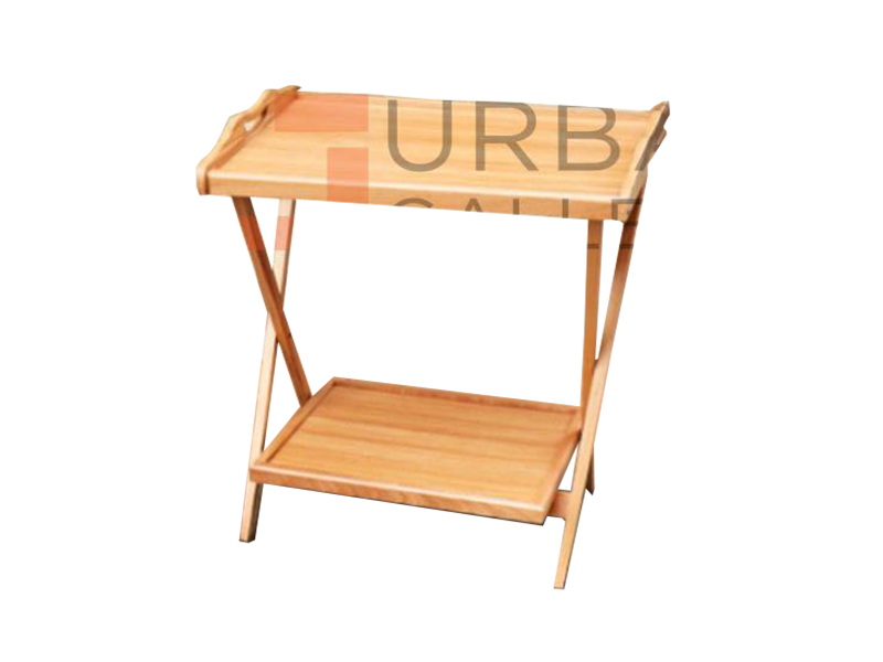 Double Light Brown Folding Table