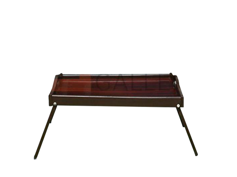 Dark Brown Folding Bed Table