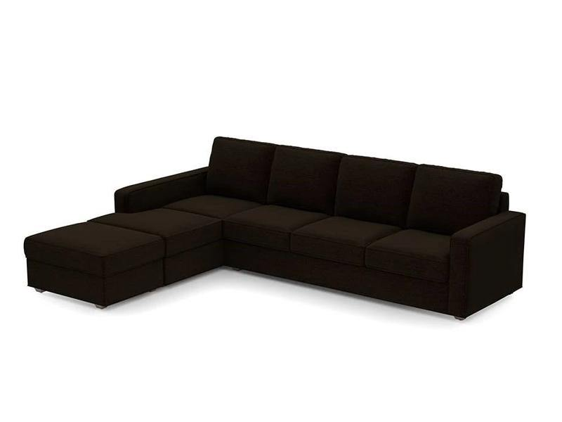 Austin 6 Seater Sectional Sofa - Dark Brown