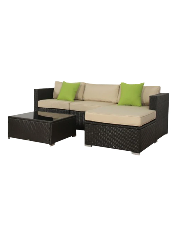 Maydste Outdoor 3 Piece Secitional Seating With Cushions