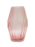 Patterned Glass Vase - Rose