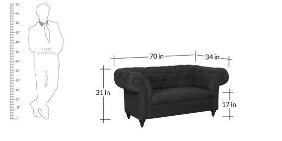 Andres 2 Seater Sofa - Charcoal Gray