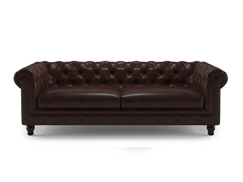 Valerie 3 Seater Sofa - Brown Leatherite
