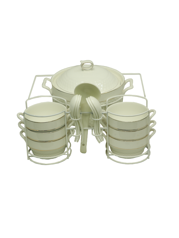 Soup set-White