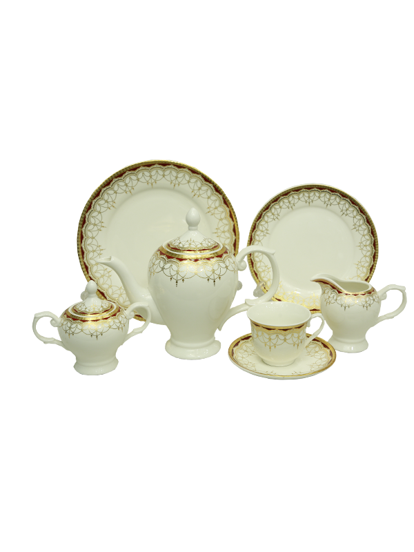 Tea Set - White & Gold