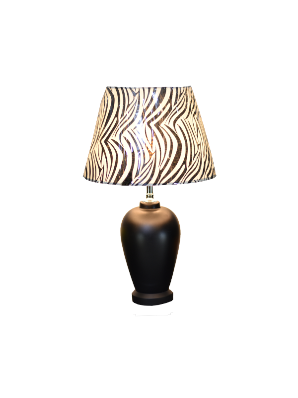 Luiza Table Lamp - Zebra Black