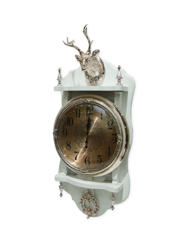 Markhor Brass Wall Clock