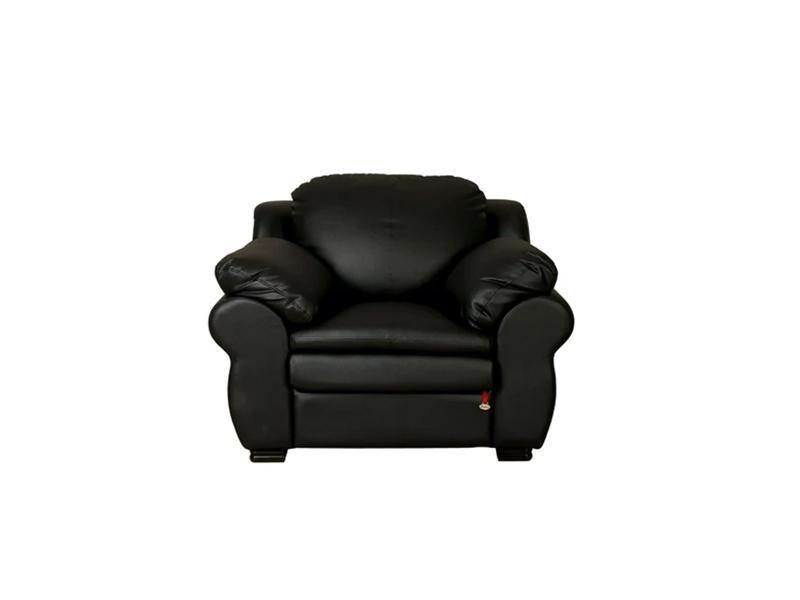 Ambroze 1 Seater Sofa - Black Leatherite
