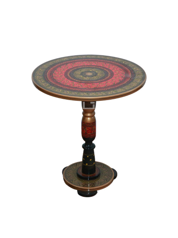 Maroon Naqashi Table