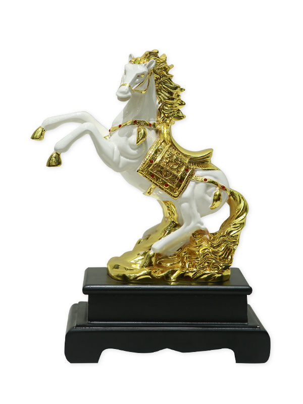 Casper White Horse Decor