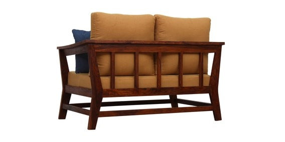 Elm 2 Seater Sofa - Mid Brown