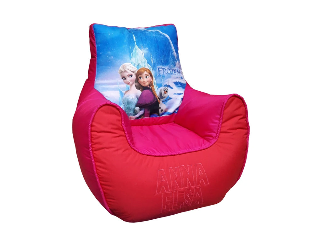 Elsa and Anna bean bag sofa