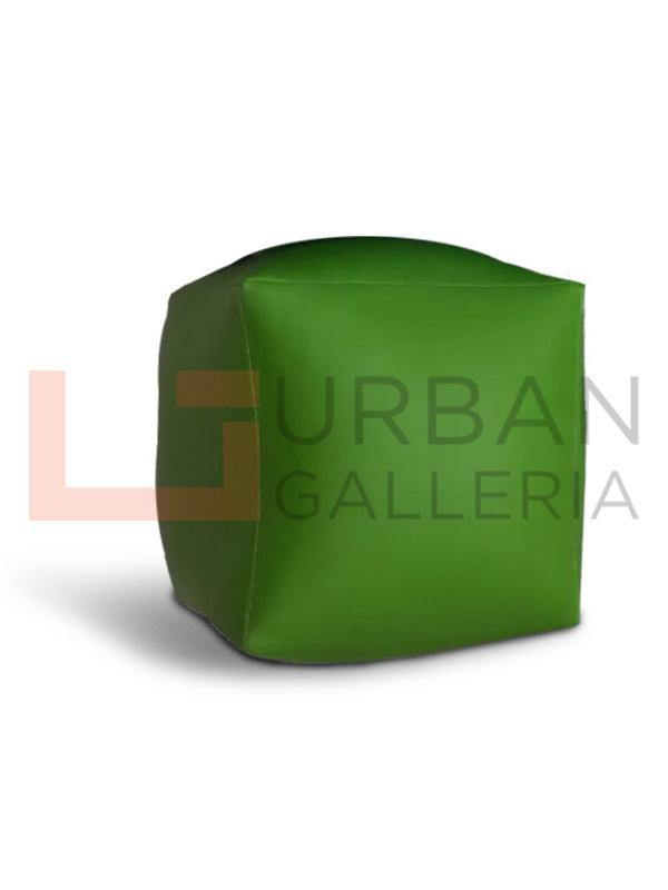 Artificial Leather Plain Square Stool Bean Bag