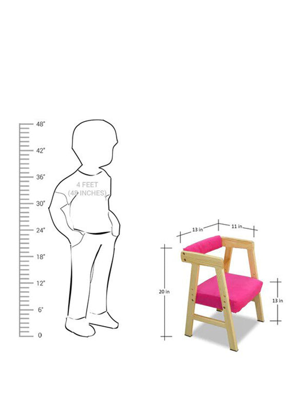 Rowan Activity Table Chair Set with Adjustable Height in Pink