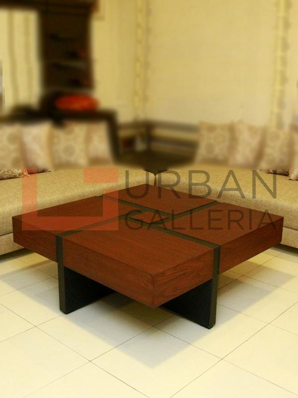Cross Line Square Coffee Table