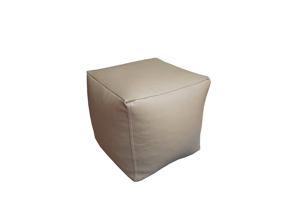 Cubicle Leather Stool - White