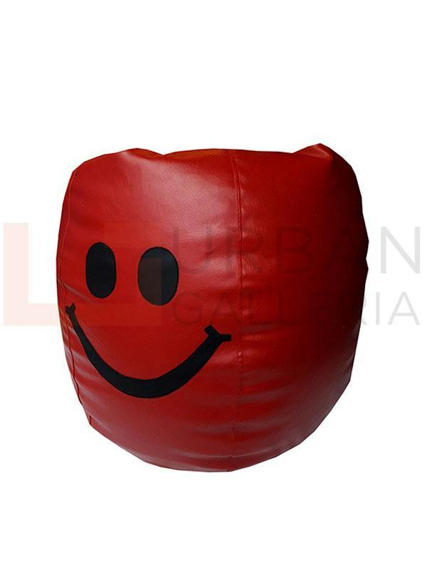 Leatherite smiley bean bag