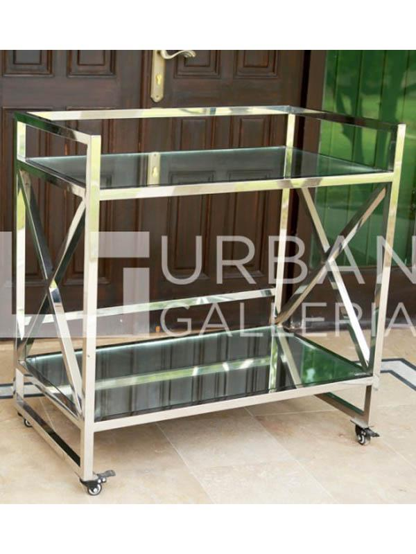 Metal Glass trolley