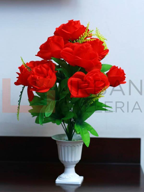 Palatial Red Rose Table Planter