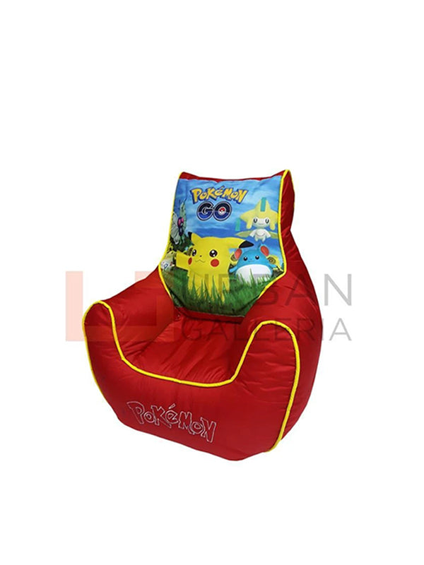 Pokemon bean bag sofa red