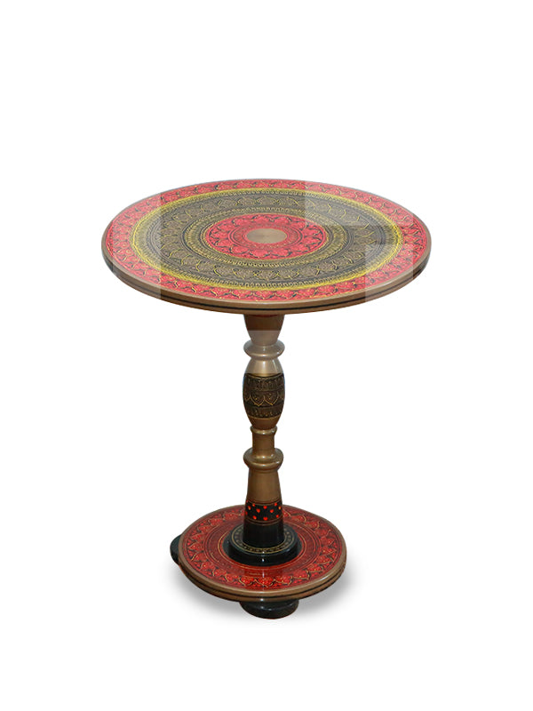 Red Naqashi Table