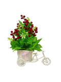 Bicycle carriage floral planter-red flowers