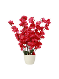 Floral pot planter-Red Flowers