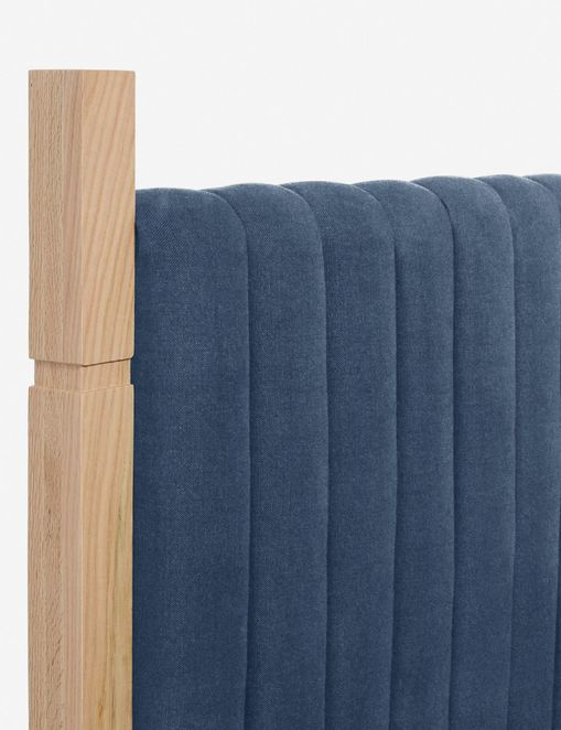 Jude Upholstered Bed (Blue)