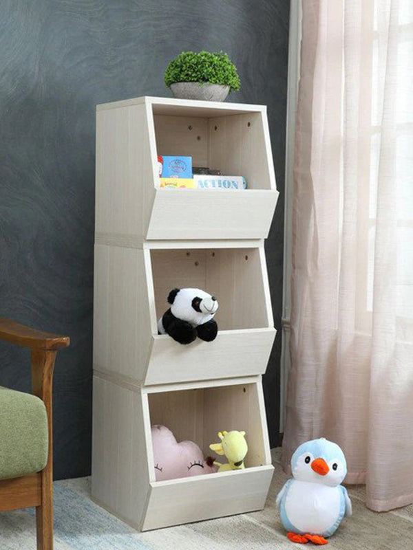 Midinger Kids 3 Tier Compact Book Shelf in Oak Colour