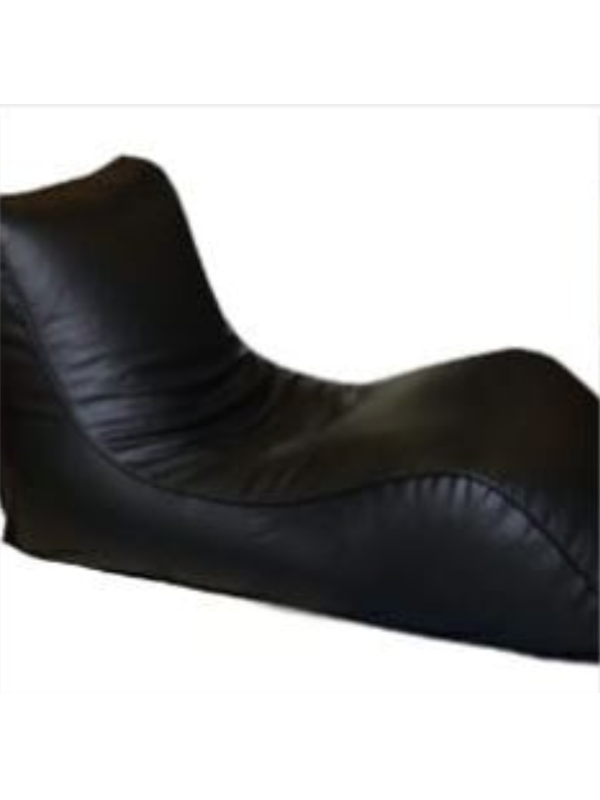 Leatherite long sitter bean bag