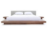 Brisk Double Bed - Black Walnut