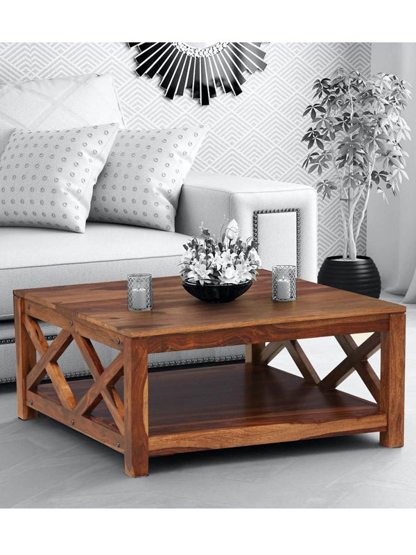 Fife Solid Wood Coffee Table in Provincial Teak Finish