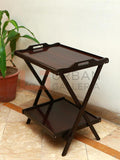 Double Dark Brown Folding Table
