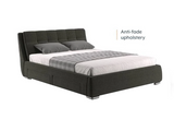 Edler Upholstered Double Bed - Charcoal Grey