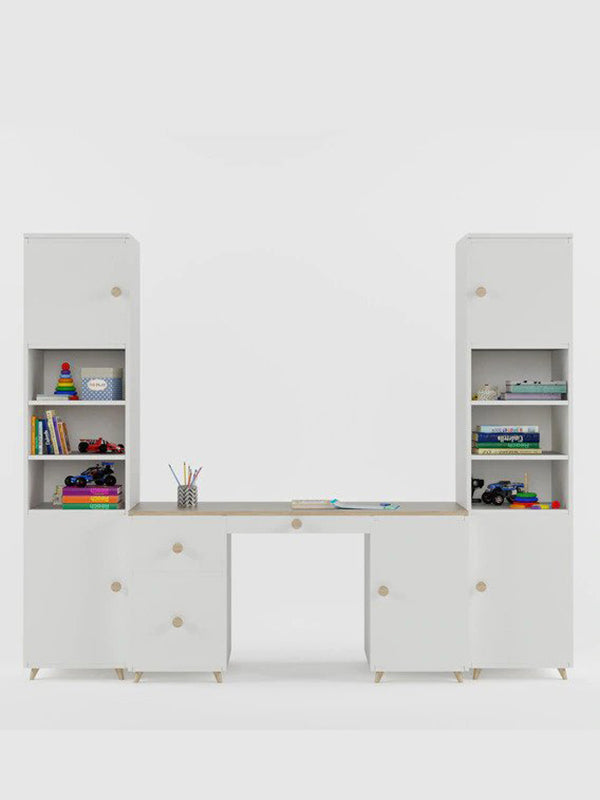 Salina Study Table in Frosty White